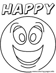 Small Picture Easy to Make emotions coloring pages help kids with feelings