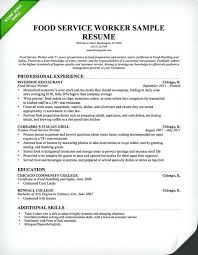 Food Service Server Resume Professional Restaurant Waiter Fine Cool Fine Dining Server Resume