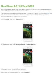 LG L65 Dual D285 User manual