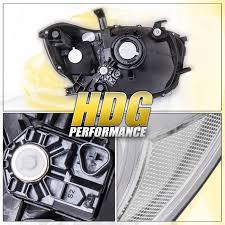 Headlights 2008-2010 Toyota Highlander Chrome Clear Lens w/ Clear ...