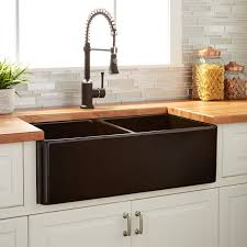 33 reinhard double bowl fireclay farmhouse sink black kitchen with proportions 1500 x 1500