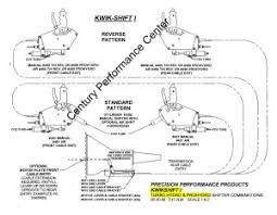 precision performance products 456 kwik shift i air shifter kwik shift i gm th400 and th350 configuration drawing