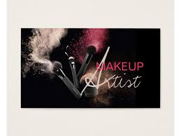 makeup business cards designs makeup artist business cards templates free gallery card design