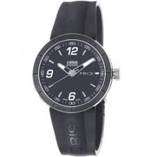 mens watches outlet houseofwatches co uk oris mens tt1 rubber automatic strap watch 735 7651 4174 07rs