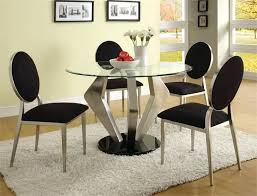 modern round glass dining table inspiration gallery from decorating dining room with modern round dining table