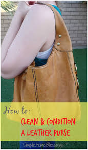 how to clean and condition a leather purse