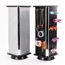 Rotating Hook Display Stand Mesmerizing Expedited Shipping Rotating Square Pegboard Display Stand Rack Tower