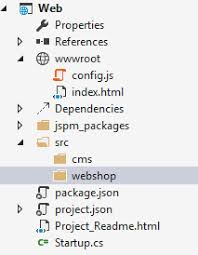 Aurelia project setup and folder structure in Visual Sudio 2015 ...