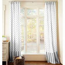 curtain no sew pom trim curtains this is our bliss decoration white with inside grey