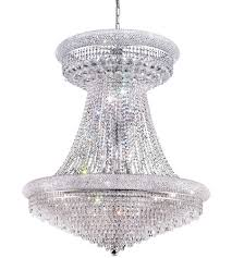 elegant lighting 1802g36sc rc primo 28 light 36 inch silver and clear mirror foyer ceiling