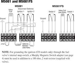 m m series fw murphy production controls diagrams