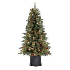 Holiday Living 4.5-ft Pre-lit Hayden Pine Artificial Christmas Tree with  150 Constant