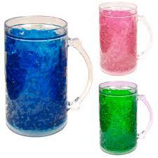 double wall gel freezer mug 28 oz acrylic tumbler beverage cooling beer cup new 0