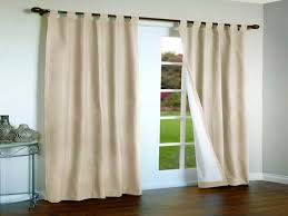 image of cream curtains for sliding doors