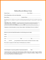 Medical Records Release Form Example 24 Medical Release Form Templates Daily Log Sheet 8