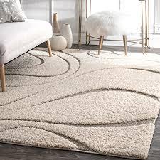 nuloom soft and plush gy curves caroyln rug 7 x 10 cream