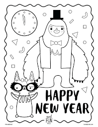 Free Printable New Years Coloring Pages New Years Coloring Page New