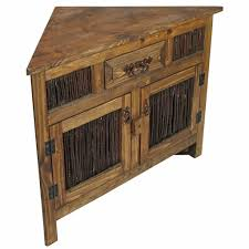 Rustic corner cabinet inspirating of small wood with twig doors ...