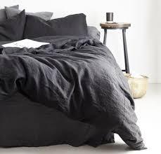 linen duvet cover queen. Rough Linen   Bedding Bedsheets Orkney Duvet Cover Queen King Twin Black