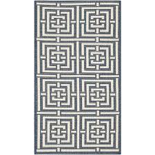 safavieh courtyard navy indoor outdoor rug runner 2 7