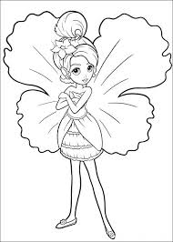 Fairy Coloring Pages Barbie As A Fairy Coloring Pages Kid Craft