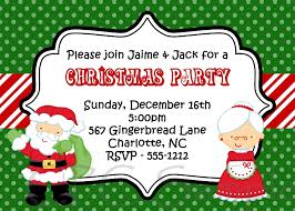 Santa And Mrs Claus Kids Christmas Holiday Party Invitation By Cutie ...