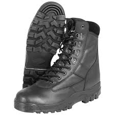sentinel combat mens patrol security tactical mil com army police boots all leather black
