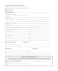 Wholesale Credit Application Blank Credit Application Form Andeshouse Co