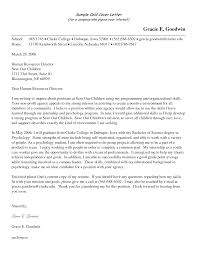 Cover Letter Cover Letter To Potential Employer Cover Letter To