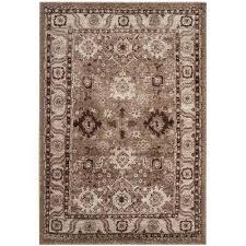 vintage hamadan taupe 7 ft x 9 ft area rug