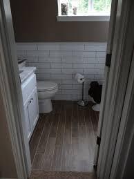wood tile flooring in bathroom. Wood Plank Tile Bathroom Flooring In