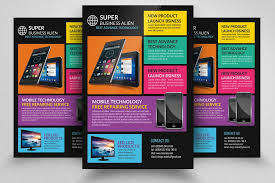 Electronic Brochure Template Electronic Product Promotion Flyer Template