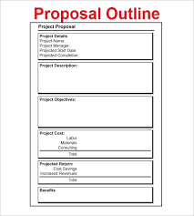 New Project Proposal Template Proposal Outline Template 9 Free Free Word Pdf Format