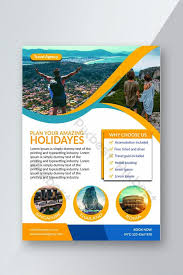 Coloring Page Leaflets Travel Flyer Template Psd Free