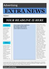 Microsoft Newspaper Article Template Microsoft Word Newspaper Template Template Newspaper