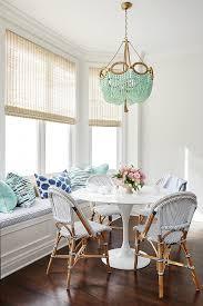 breakfast nook french bistro chairs via amie corley