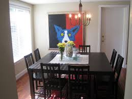 large square dining room table seats 8 painted with black color for small es ideas