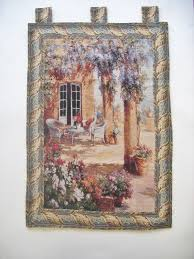 French Rococo Artist And Tapestry Designer Quiet Evening Elegant Woven Fabric Baroque Tapestry Wall