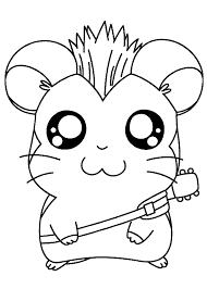 Small Picture Rocker Hamster Coloring Page Animal pages of KidsColoringPage