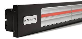 slimline black outdoor heater