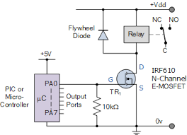 relay switch circuit and relay switching circuit micro controller relay switch circuit