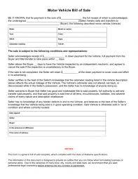 Generic Bill Of Sale Form Motor Vehicle Bill Of Sale Template Uk Word Nsw Sample Worksheets