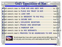 Bible Charts Gods Expectations Of Man Bible Mapping Christian