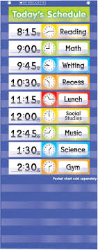 Daily 5 Pocket Chart Cards Scholastic Daily Schedule Pocket Chart Add On Cards 24 Cards