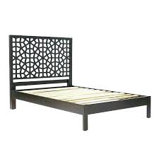 Moroccan Style Bed Frame Headboard Screen Bedroom Wooden Room Canopy ...