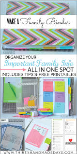 make a family binder with printables tips from thirtyhandmadedays com