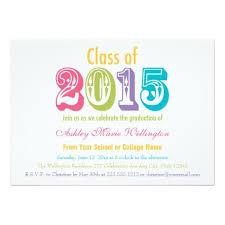 Class Party Invitation Rainbow Class Of 2015 Graduation Party Invitation Card