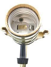 lightbulb socket a standard american three way lightbulb socket