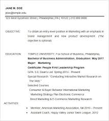 Temple Resume Template 15 Business Resume Templates Free Samples