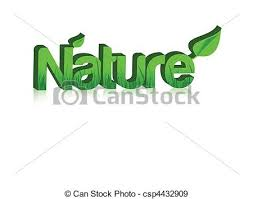 Word Of Nature Nature Word In 3d With Grass Inside And Isolated Over A White